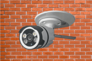 CCTV outdoor Camera against wall